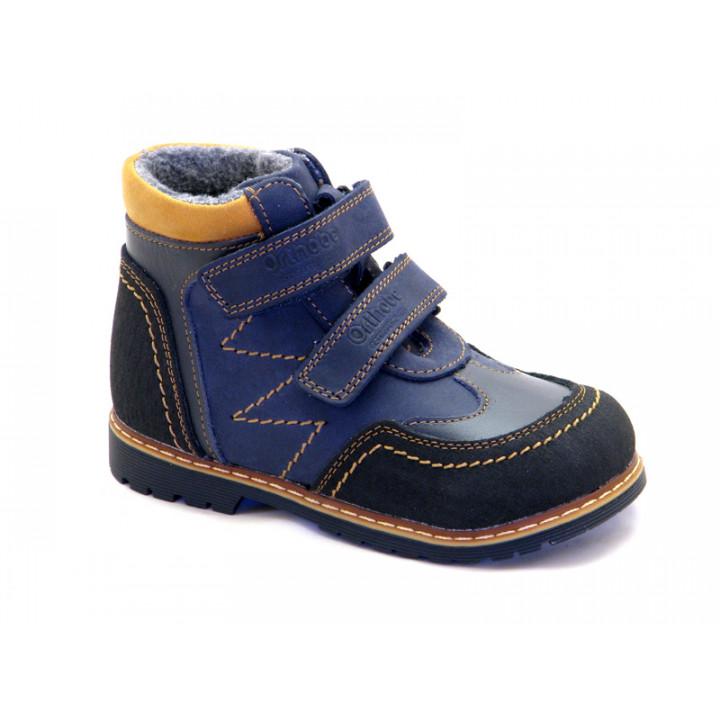 ОРТОБІ дитяче ортопедичне взуття - Купити дитячі ортопедичні шкіряні черевики для хлопчиків ORTHOBE 220b