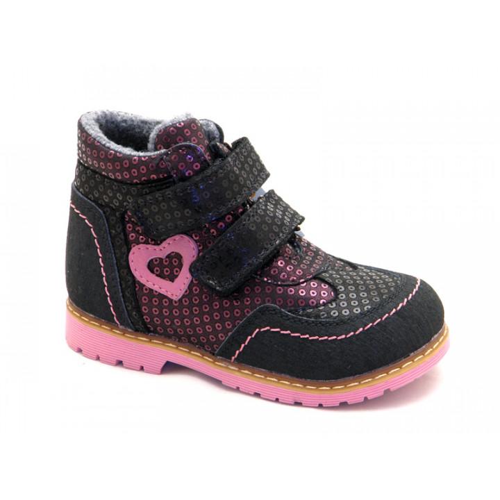 ОРТОБІ дитяче ортопедичне взуття - Купити дитячі ортопедичні шкіряні черевики для дівчинки ORTHOBE 220v