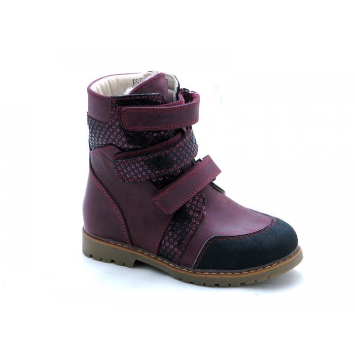 ОРТОБІ дитяче ортопедичне взуття - Купити дитячі ортопедичні шкіряні черевики для дівчинки ORTHOBE 321V