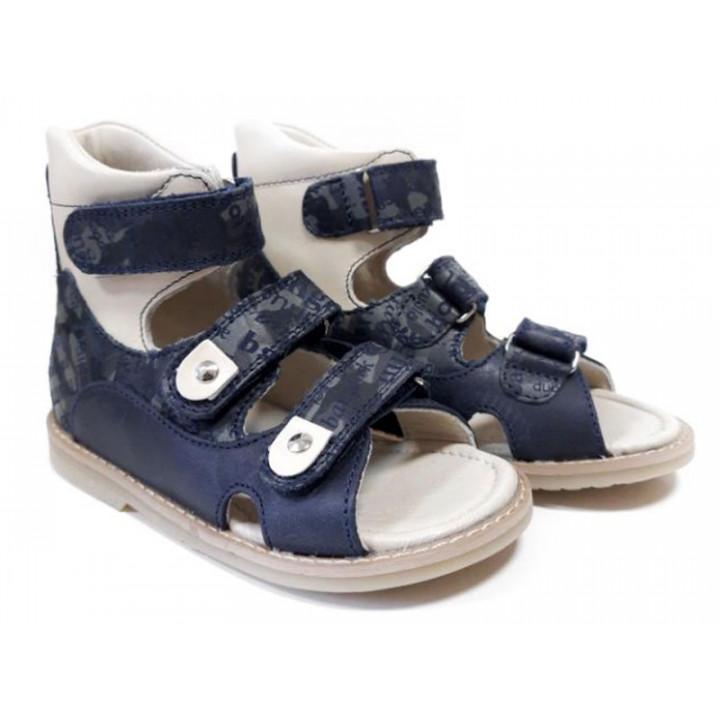 ОРТОБІ дитяче ортопедичне взуття - Купити дитячі ортопедичні шкіряні сандалі для хлопчиків ORTHOBE 005-2b