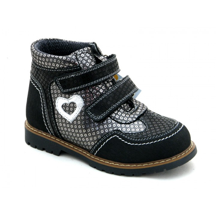 ОРТОБІ дитяче ортопедичне взуття - Купити дитячі ортопедичні шкіряні черевики для дівчинки ORTHOBE 220BL