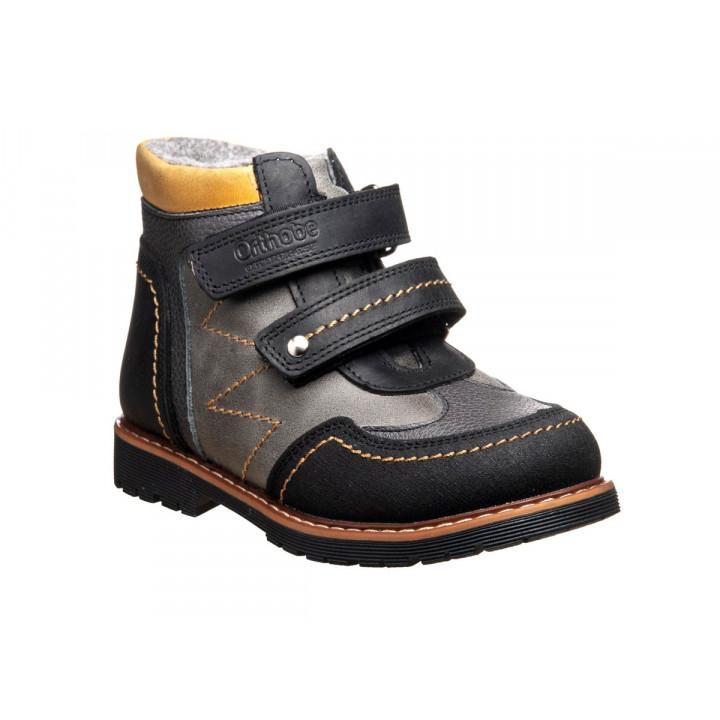 ОРТОБІ дитяче ортопедичне взуття - Купити дитячі ортопедичні шкіряні черевики для хлопчиків ORTHOBE 220blg