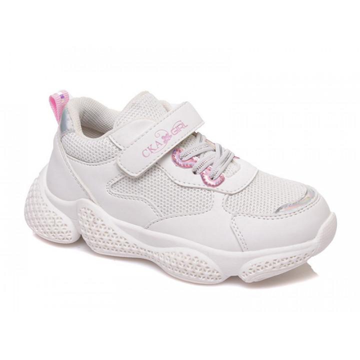 Купити стильні білі кросівки для дівчинки СКАЗКА WeeStep R529933883 W