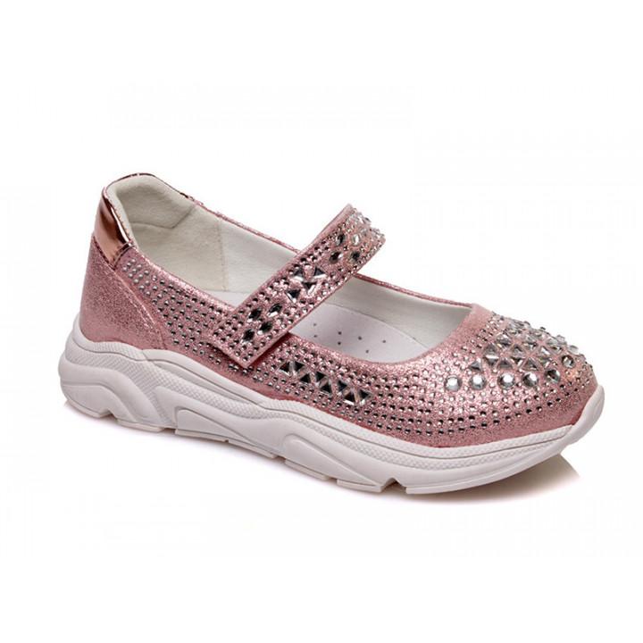 Купить стильные серебристые туфли для девочек СКАЗКА WeeStep R537333910 P