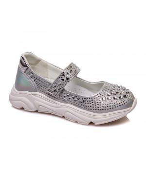 Серебристые туфельки для девочки СКАЗКА WeeStep R537333910 S (27-32р.)