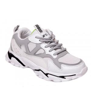 Стильні білі кросівки для дітей WeeStep 201554252 W (32-37р.)