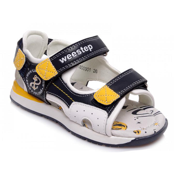 Купити стильні босоніжки для хлопчика WeeStep R961850901 CLB