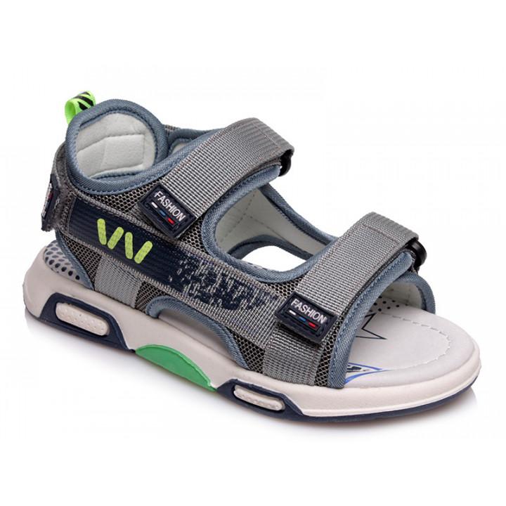 Купити стильні босоніжки для хлопчика WeeStep R923150911 GR