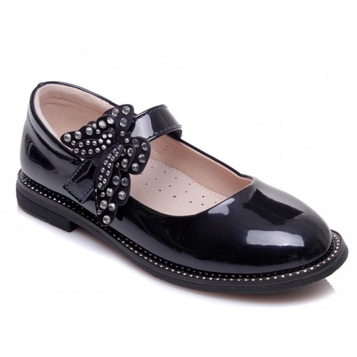 Купити стильні темно-сині туфельки для дівчинки WeeStep 191054353 DBP
