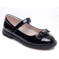 Чорні туфлі для дівчинки WeeStep 191054355 BKP (29-33р.)