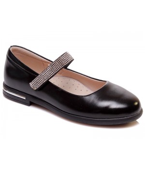 Чорні туфлі для дівчинки WeeStep 555954325 BKP (29-33р.)