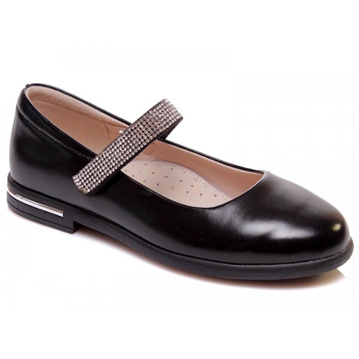 Купити стильні чорні туфельки для дівчинки WeeStep 555954325 BKP