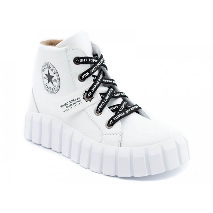 Купити шкіряні черевики для дівчат N-Style 078-3