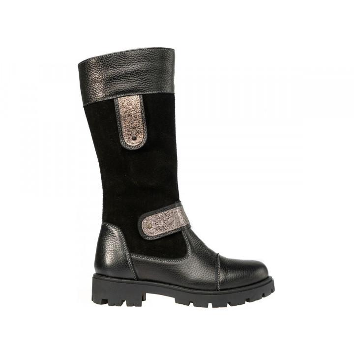 Купити шкіряні зимові чоботи для дівчат Tobi 004-04