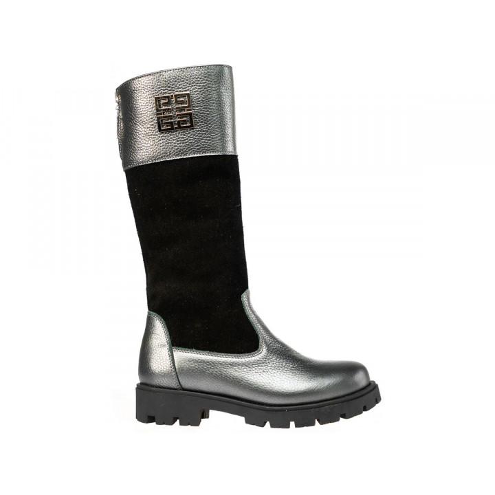 Купити шкіряні зимові чоботи для дівчат Tobi 052-04