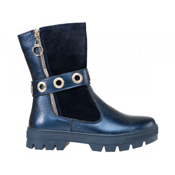 Купити шкіряні зимові чоботи для дівчат Tobi 193-03