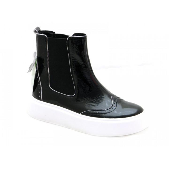 Купити шкіряні демісезонні черевики для дівчат Tobi 287-01